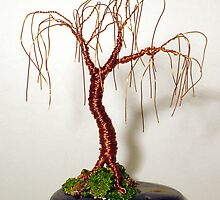 OAK BONSAI  - Mini Wire Tree Sculpture, by Sal Villano  by Sal Villano