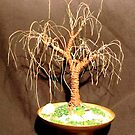 RUSTED OAK  No.2 - Mini Wire Tree Sculpture, by Sal Villano  by Sal Villano