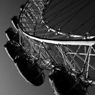 London Eye Black And White by DavidHornchurch