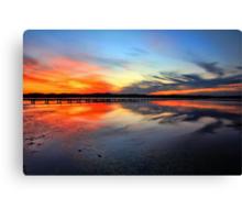 Sunset @ Long Jetty, Tuggerah Lake Canvas Print