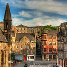 The Grassmarket from Granny Green's Steps by Tom Gomez