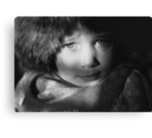 Eyes in Chiaroscuro Canvas Print