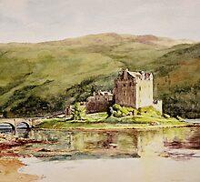 Eilean Donan Castle Scotland by Joyce Grubb