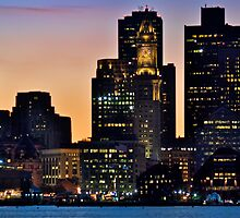 Boston City Skyline at Dusk *featured by Jack McCabe