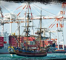 HMB Endeavour by Darren Speedie