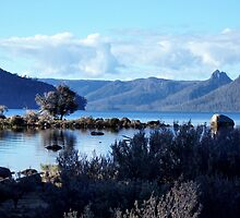 Lake St Clair and the Traveller Range by pensivepanther
