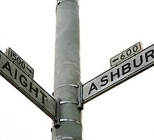 Haight Ashbury intersection by Rob Chiarolli