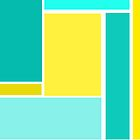 Bold Abstract Design in Blue and Yellow by ArtformDesigns