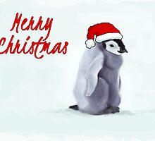 Baby Penguin Christmas Card by Dan Johnson