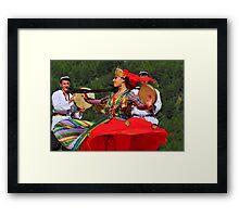 Uzbeki dancing girl Framed Print
