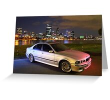 M5 BMW 540i Greeting Card