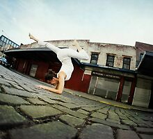 Elena Brower on Scorpion in New York City by Wari Om  Yoga Photography