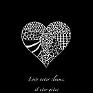 Zentangle Heart  & Quote iPhone Case by Hilda Rytteke