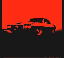 Pontiac Firebird, 1969 - Red on black by uncannydrive