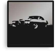 Pontiac Firebird, 1969 - Gray on black Canvas Print