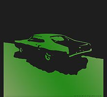Mercury Marauder,  1969 - Green on black by uncannydrive