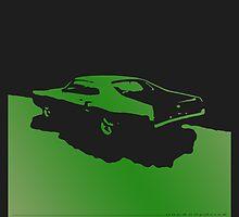 Mercury Marauder,  1969 - Green on black by uncannydrive