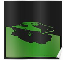 Mercury Marauder,  1969 - Green on black Poster