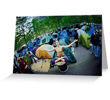 Occupy Wall Street with Yoga, we are the 99% Greeting Card
