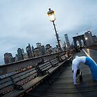 Full wheel, Yoga at Brooklyn Bridge, New York by Wari Om  Yoga Photography