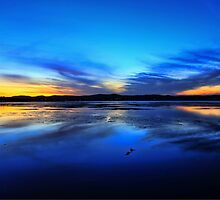 Blues and Yellows - Tuggerah Lake, Long Jetty by Arfan Habib