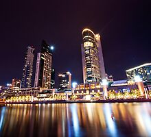 Crown Casino at Night by Danielle  Miner