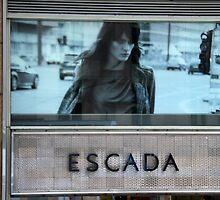 Escada window, Hong Kong by Maggie Hegarty