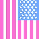 Pink, White and Blue Star Spangled Banner by ArtformDesigns