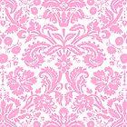Vintage Damask Pattern in Pink and White by ArtformDesigns
