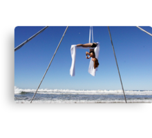 Aerial Tissu at the Trapeze Beach Camp Canvas Print