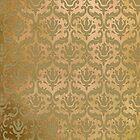 Vintage Damask Pattern in Golden Browns by ArtformDesigns