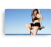Static Trapeze at the Trapeze Beach Camp Canvas Print