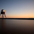 Sunset At The Beach, Dovercourt. by Mat Robinson