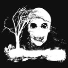 Halloween Skull on Dead Tree  by Nhan Ngo
