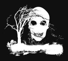 Halloween Skull on Dead Tree  by Nhan Ngo