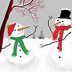 Snowmen by Debbie  Adams
