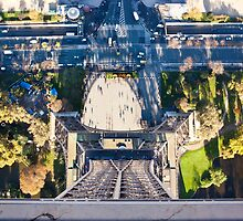 Eiffel Tower from the top by Sam Tabone