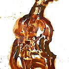 Violin/rust painting by joel armstrong