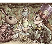 alice at the mad tea party Photographic Print