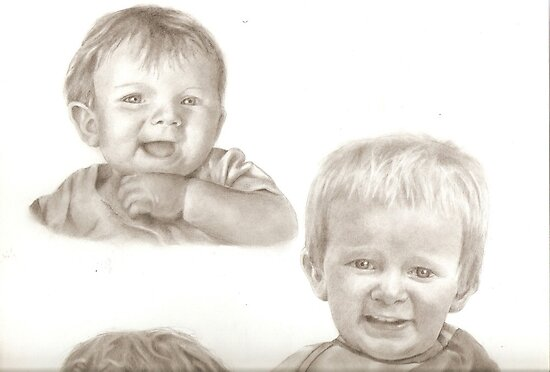 Baby Jack (part of a larger drawing) by Reanne