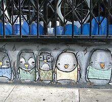 San Francisco - Street art birds by Maureen Keogh