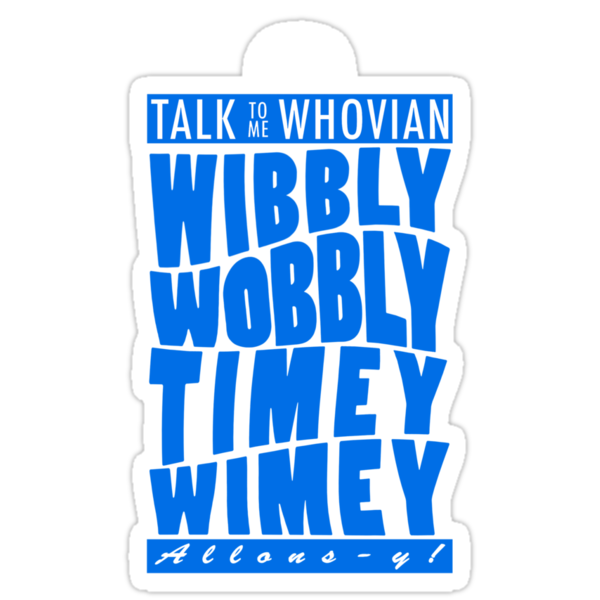 Talk Whovian To Me (version 2, light blue) by trekvix
