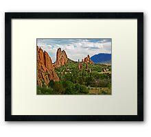 Garden of the Gods, Colorado Springs Framed Print