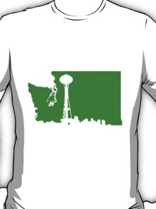 Ode to Washington State White Silhouette T-Shirt
