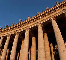 St.Peters colonnades by Sam Tabone
