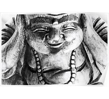 Smiling buddha Poster