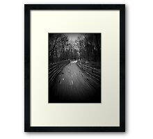 The Trail photos # 5...Through a dream..Lost in the mist..I have a come to an ancient door.. I have been there a hundred times or more..Pounding my fists..A boy goes in and suddenly a man returns Framed Print
