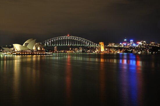 Sydney Harbour at Night by PhysioDave