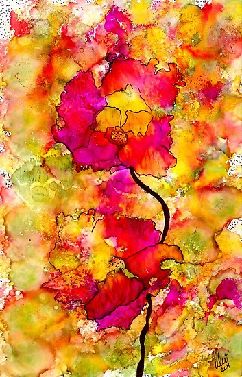 Floral Duet by © Angela L Walker