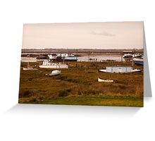 Houseboats at West Mersea, Essex Greeting Card